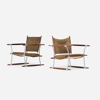 Jens Quistgaard, Stokke lounge chairs, pair