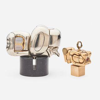 Miguel Berrocal, Mini Zoraida and Micro Maria pendant
