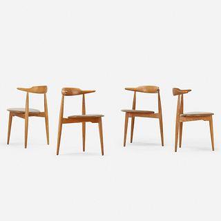 Hans J. Wegner, Heart dining chairs, four