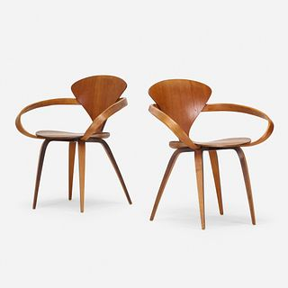 Norman Cherner, armchairs, pair