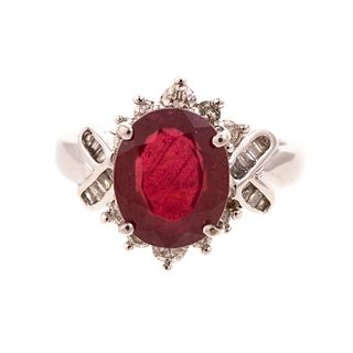 A 3.65 ct Ruby & Diamond Ring in 18K