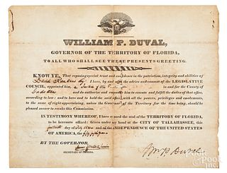 William P. Duval, Florida Governor appointment