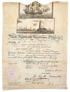 Martin Van Buren signed whaling ships passage