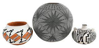 Three Acoma Pottery Vessels