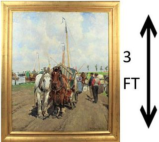 Frans Van Leemputten (1850-1914) Belgium O/C