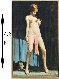 Burton Silverman (b.1928) New York, Oil on Canvas