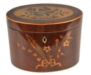 Period English Oval Regency Tea Caddy