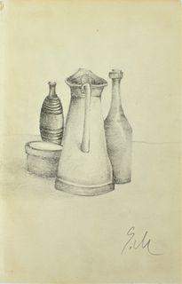 Attrib Giorgio Morandi (1890-1964) Pencil on Paper