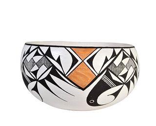 Emma Lewis (1931-2013) Acoma Pottery Bowl