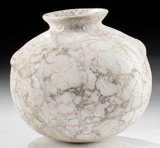 Gorgeous Egyptian Late Dynastic Alabaster Jar