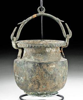 Greek Hellenistic Bronze Situla Bale Handle