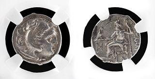 Macedon Alexander III Silver Drachm - NGC Graded