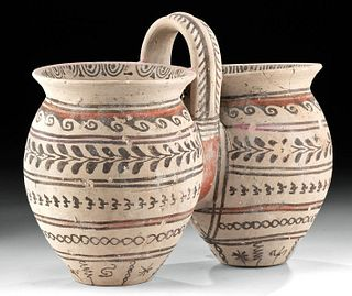 Greek Canosan Pottery Double Situla - Amazing Pigments!
