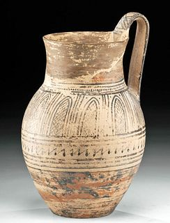Greek Attic Geometric Pottery Pitcher