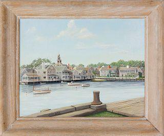 "Julian Yates Oil on Canvas ""Easy Street Cove"""