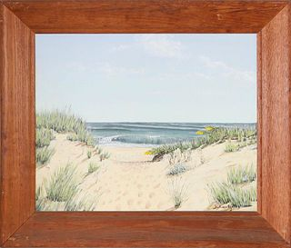 "Julian Yates Oil on Canvas ""Path to the Beach - Nantucket"""