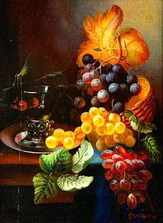 Decorative Painting, Still Life, Signed Cranworth