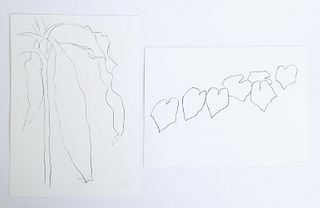 Ellsworth Kelly, Two Lithographs, Hand Signed
