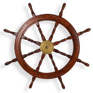 Nautical Wooden Captains Ship Wheel