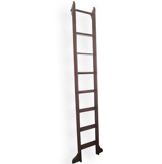 Putnam Wooden Rolling Library Ladder