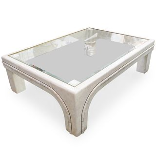Maitland Smith Tessellated Marble Coffee Table