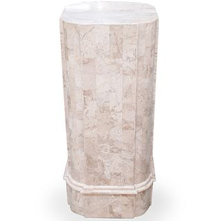 Maitland Smith Tessellated Marble Pedestal
