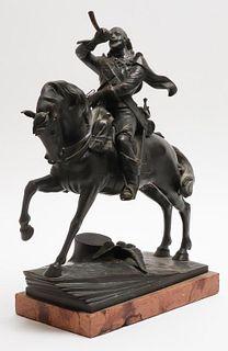 After Alois Hernick Figural Faux Bronze Sculpture