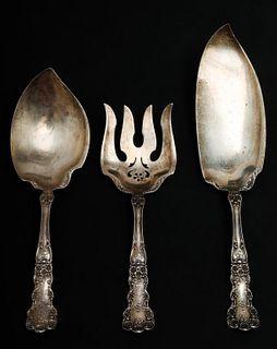 "Gorham ""Buttercup"" Sterling Silver Serving Pcs. 3"