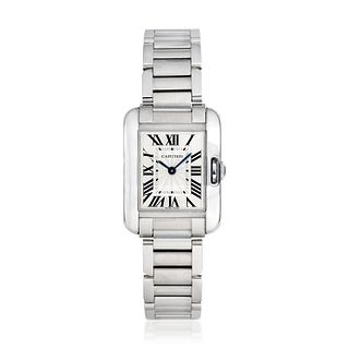 Cartier Ladies Tank Anglaise in Stainless Steel