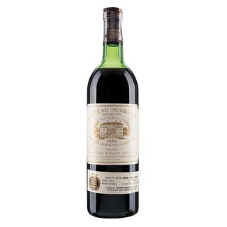 Château Margaux. Cosecha 1980. Grand Vin.  Premier Grand Cru Classé. Margaux. Nivel: en el hombro superior.