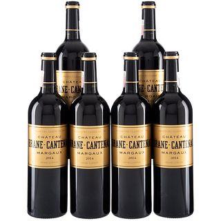 Château Brane - Cantenac. Cosecha 2014. Margaux. France. Nivel: llenado alto. Piezas: 6.