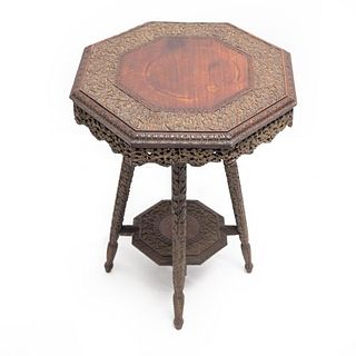 19th Century Anglo-Indian Carved Table