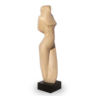 After Alexander Archipenko Femme, nude figure, marble on stone