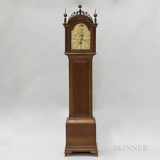 Riley Whiting Federal Cherry Tall Case Clock