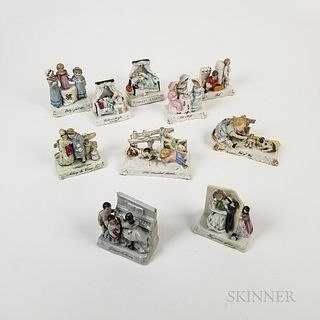 Ten Continental Fairing-type Porcelain Figures