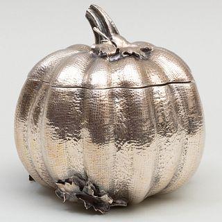 Small Buccellati Silver Pumpkin Box and Cover