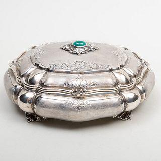 Italian Silver Shaped Oval Casket