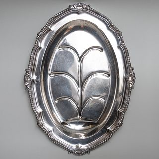 George III Paul Storr Silver Well and Tree Platter