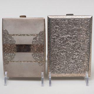 Austrian Silver Cigarette Case and a Continental Silver Cigarette Case