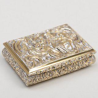 William VI Silver Gilt Presentation Snuff Box