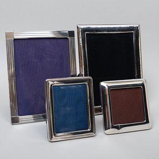 Group of Four Italian Silver Frames