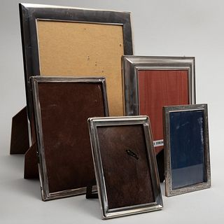 Group of Five Silver Frames