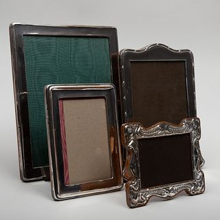 Group of Four English Silver Frames