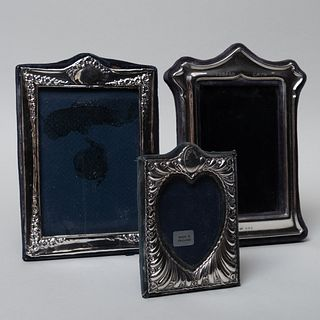 Group of Three English Silver Frames