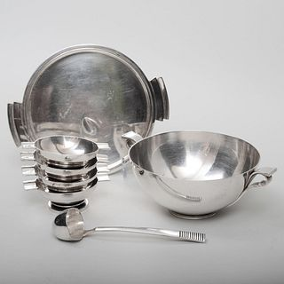 Group of Georg Jensen Silver Condiment Wares