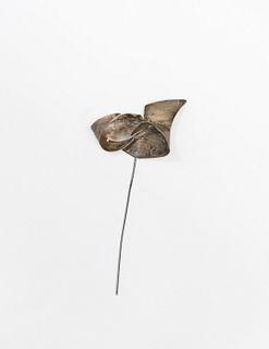 Unique George Rickey pinwheel shaped silver weareable sculpture. w/COA & $10K APR Value!+