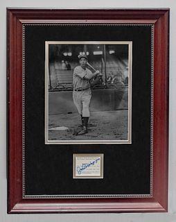1937 Joe DiMaggio NY Yankees, Charles Conlon photo with autograph . w/COA & $3K APR!+