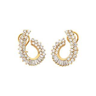 Diamond and 14K Earrings.