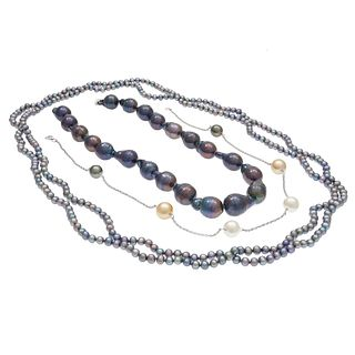 Collection of Three Cultured Fresh Water Pearl Necklaces