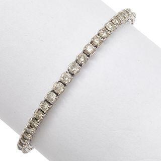 Diamond, 14k White Gold Tennis Bracelet